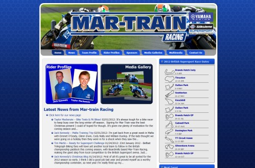 Martrain Racing Launch New Website