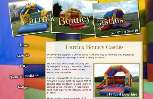 Bouncy Castles for Hire in Belfast and Carrickfergus