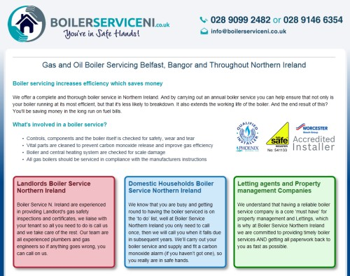 Boiler Service Northern Ireland